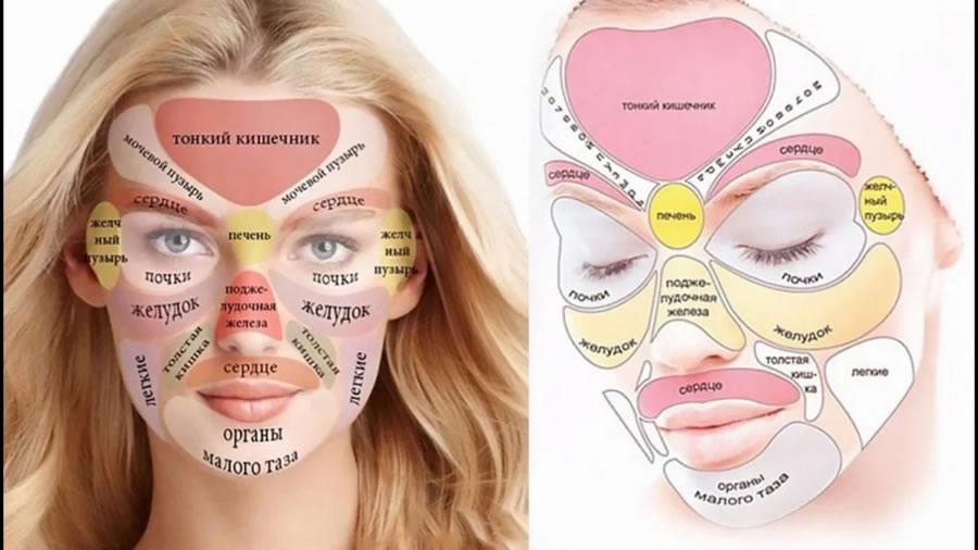 Диагностика больных органов по лицу